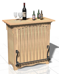 3d country style bar counter