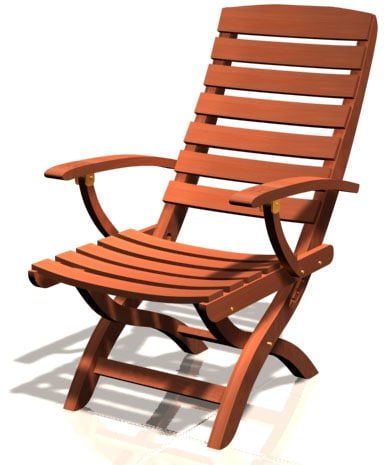outdoor chair 3d max