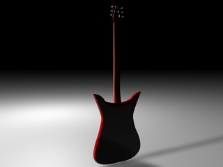 3d model electric guitar