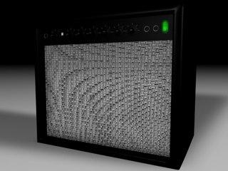 speaker amp 3d c4d