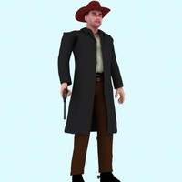 3d model of hi res cowboy character