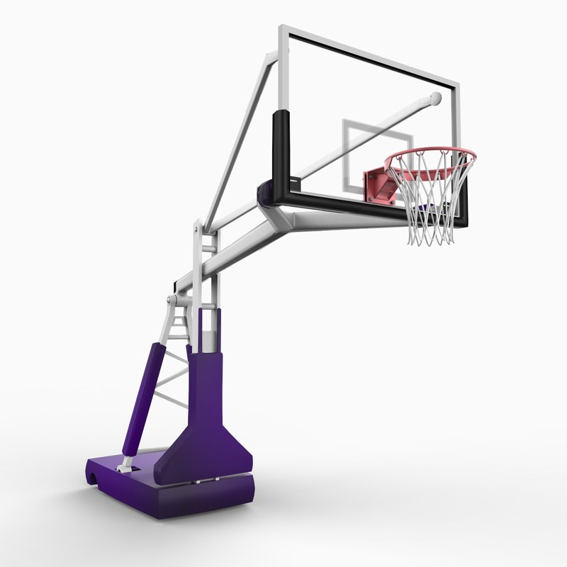 3d model institutional style basketball standard