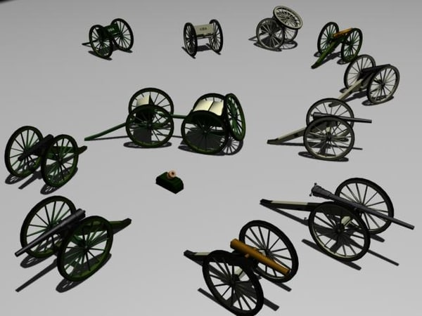 civil war cannons gaming 3ds