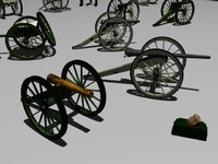 civil war cannons gaming 3d max