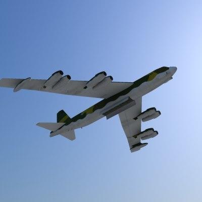 b52 bomber 3d model
