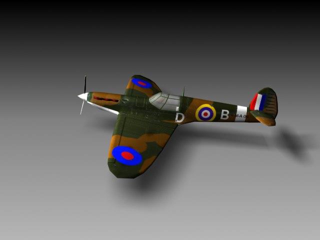 spitfire games 3d model