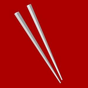 3d chop stick model