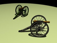 3d model of cannon napoleon