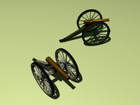 cannon napoleon 3d model