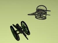3d cannon parrott model