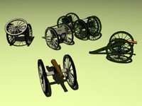 cannons napoleon 3d model