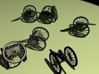 cannons parrott 3d model