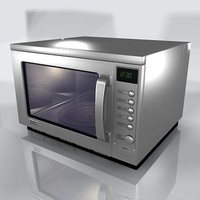 microwave oven 3d model