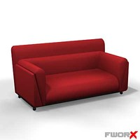 3d model sofa loveseat