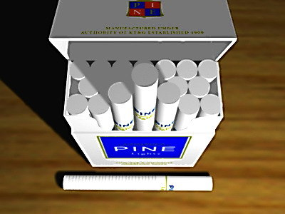 pine cigarettes packs 3d model