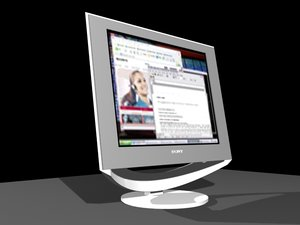 sony lcd monitor 3d max