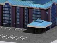 hotel inn dury 3d model