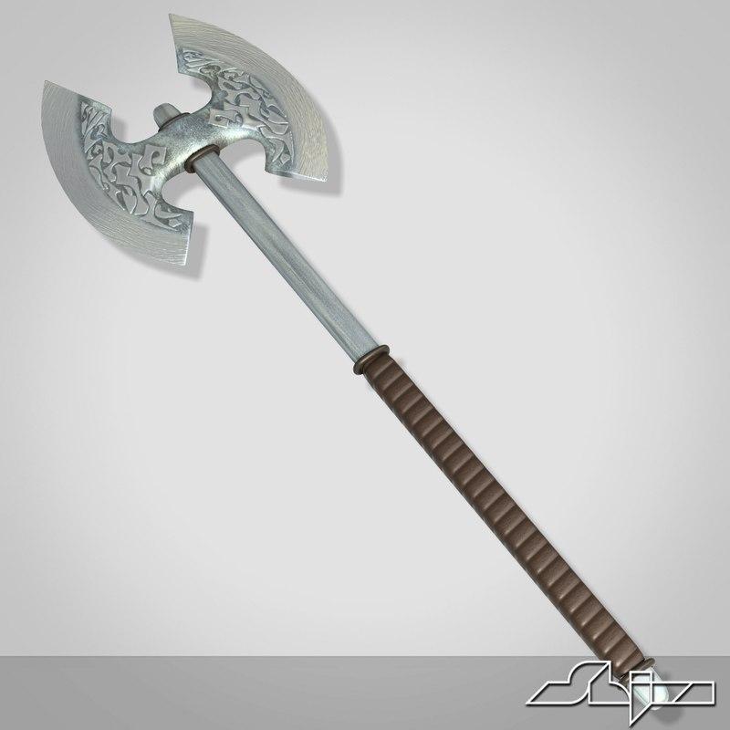 axe medieval 3d model