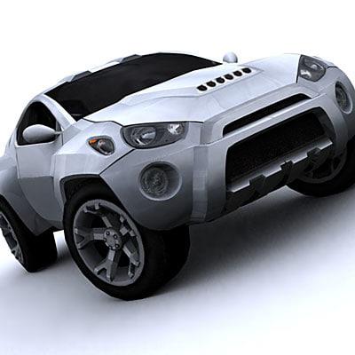 toyota rsc concept car 3d model