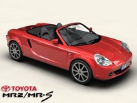 toyota mr2 mrs 3d model