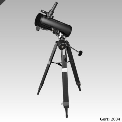 3ds max reflecting telescope