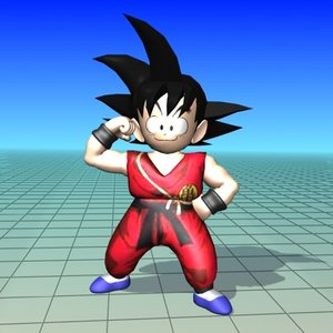 free songoku anime 3d model