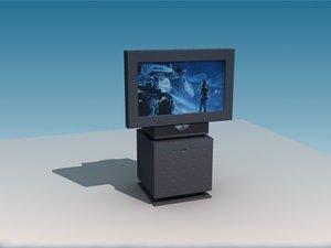 3d model tv plasma video camera