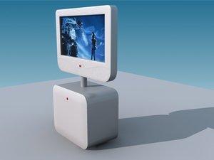 tv plasma video camera 3d model