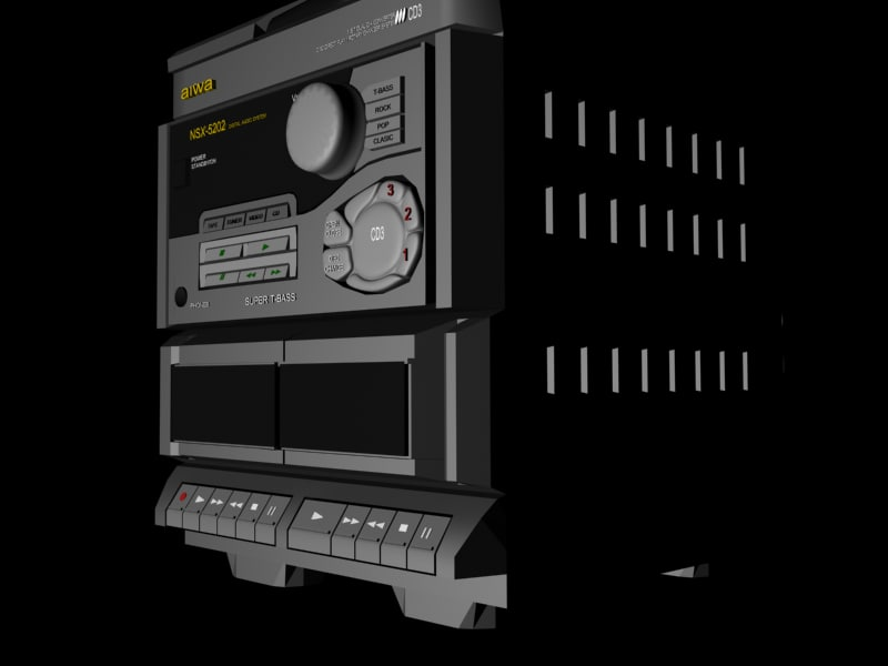 aiwa radio tower 3d model
