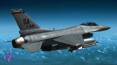 f16 jet fighter f-16 3d model