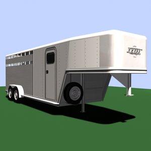 exiss trailer horses 3d model
