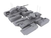 scorpian tank 3d model