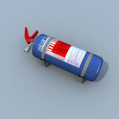 racing extinguisher 3d max