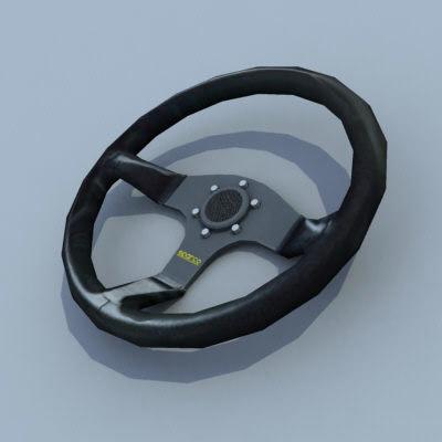 maya racing steering wheel