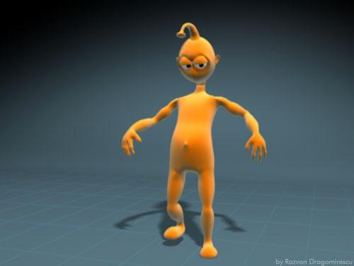 2425ba68e funny cartoon alien character 3d model