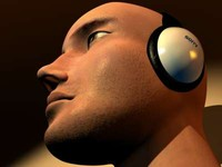 head headphones 3d max
