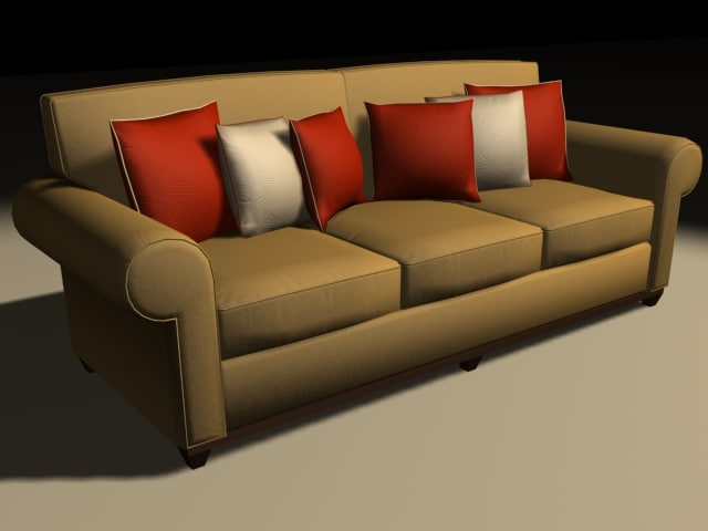 couch polygons 3d max