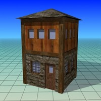 free house low- building 3d model