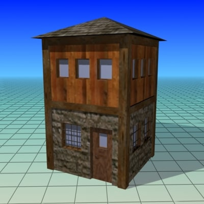 free house low- building 3d model