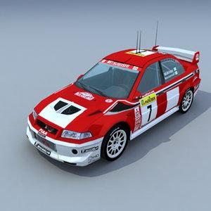 mitsubishi lancer rally car 3d max
