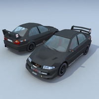mitsubishi lancer touring car 3d model