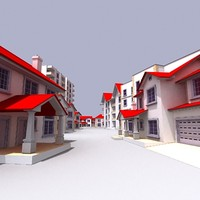 residential houses 3d model
