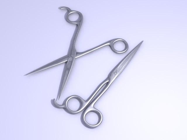 3d model scissors zipped