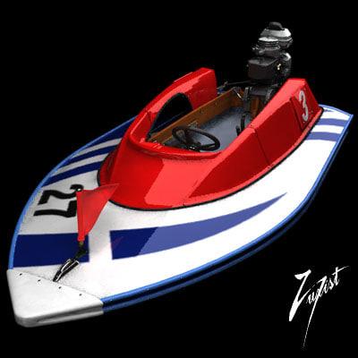 boat motorboat 3d model