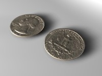 washington quarter 3d c4d