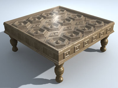 3d decorative coffee table