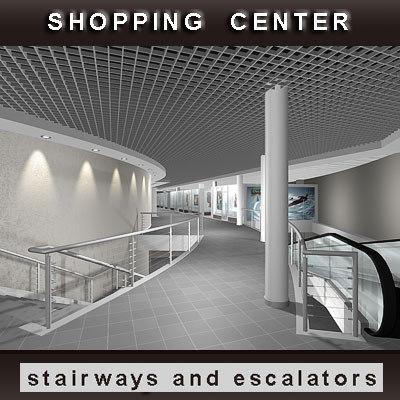 shopping center 3d model