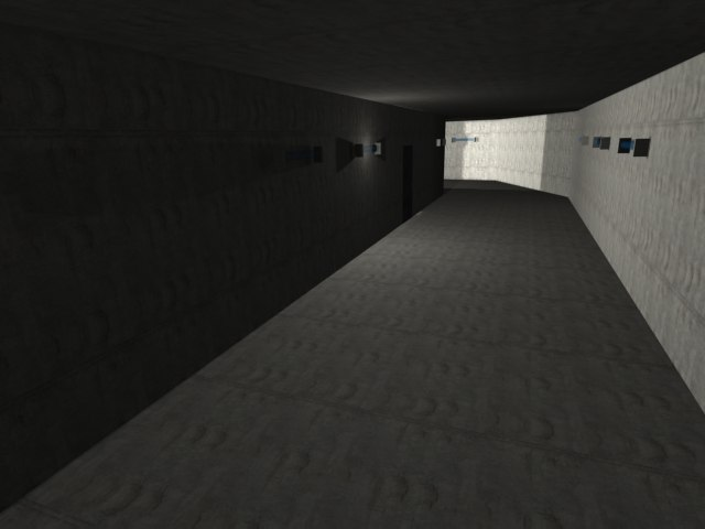 3d model of underground bunker