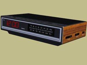 digital alarm clock 3d model