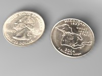 3d michigan quarter